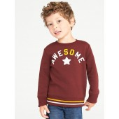 Printed Crew-Neck Sweatshirt for Toddler Boys
