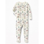 Racecar-Print Footed Sleeper for Toddler Boys & Baby
