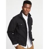 Built-In Flex Black Denim Jacket for Men