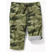 Jersey-Lined Pull-On Hybrid Pants for Baby