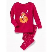 Fox-Graphic Sleep Set for Toddler & Baby
