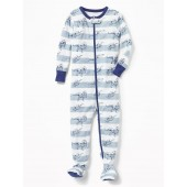 Dinosaur-Print Footed Sleeper for Toddler Boys & Baby