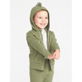 Dino-Critter Zip Hoodie for Toddler Boys