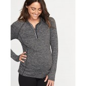 Maternity Semi-Fitted 1/4-Zip Performance Pullover