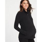 Maternity Micro Performance Fleece Zip-Front Jacket