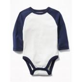 Color-Blocked Raglan Bodysuit for Baby
