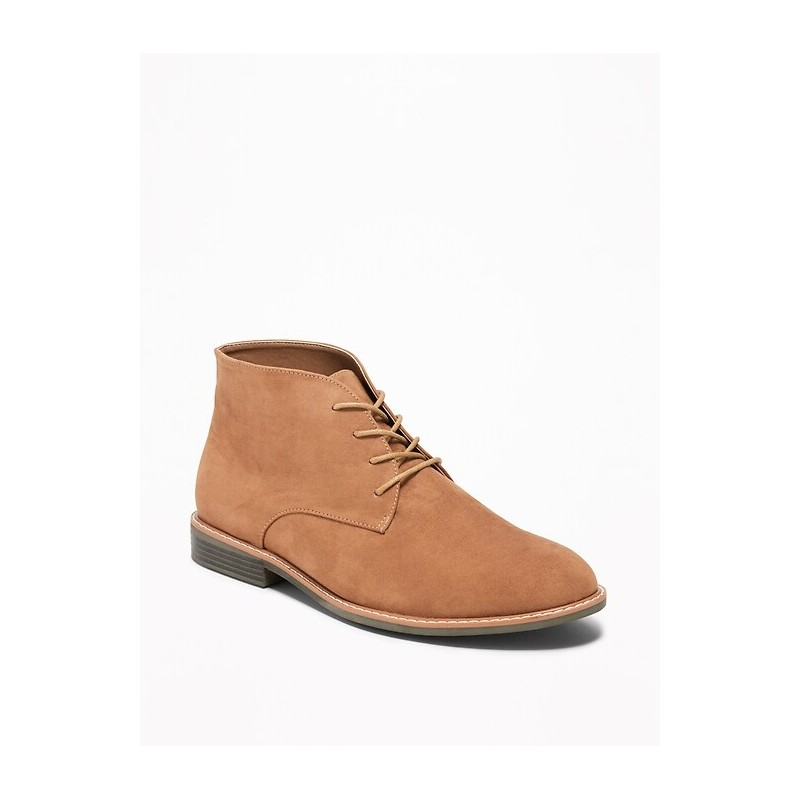 Faux-Suede Lace-Up Chukkas for Men