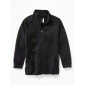 Color-Block Quilted-Sleeve Performance Zip Jacket for Boys