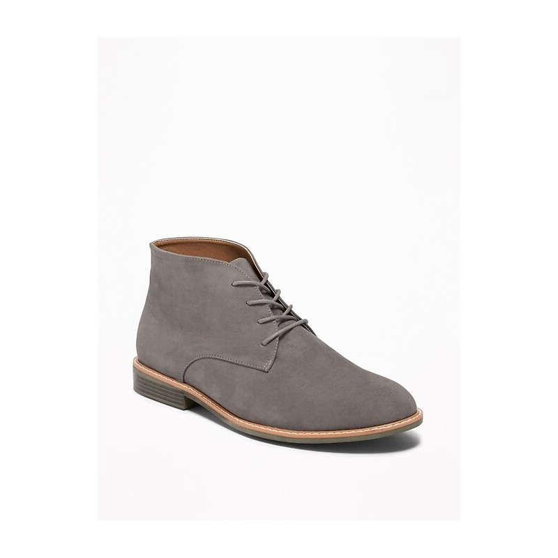Sueded Lace-Up Chukkas for Men