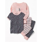 Ballerina 4-Piece Sleep Set for Toddler Girls & Baby