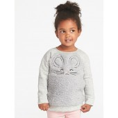 Plush Critter Tunic Sweatshirt for Toddler Girls
