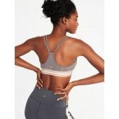 Light Support Exposed-Elastic Sports Bra for Women