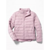 Packable Lightweight Quilted Nylon Jacket for Girls