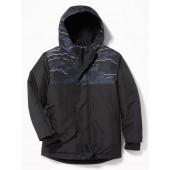 Relaxed Water-Resistant Color-Block Snow Jacket for Boys