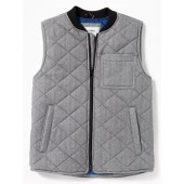 Lightweight Quilted Herringbone Zip Vest for Boys