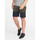 Go-Dry Color-Block Run Shorts for Men - 9-inch inseam