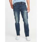 Straight Built-In Flex Distressed Jeans for Men