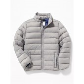 Packable Lightweight Quilted Nylon Jacket for Boys