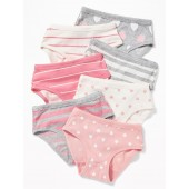 Patterned Jersey Underwear 7-Pack for Toddler Girls