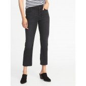 Button-Fly Flare Ankle Jeans for Women