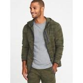 Camo Dynamic Fleece 4-Way Stretch Zip Hoodie for Men