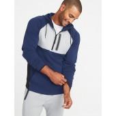 Built-In Flex Color-Block 1/2-Zip Hoodie for Men