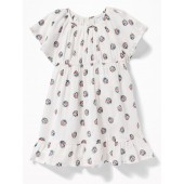 Flutter-Sleeve Babydoll Dress for Baby
