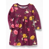 Printed Scoop-Neck Jersey Dress for Baby