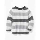 Striped Crew-Neck Tee for Toddler Boys