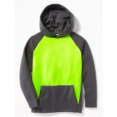 Relaxed Color-Block Pullover Performance Hoodie for Boys