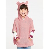 Critter Poncho for Toddler Girls