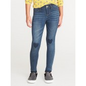 Heart-Graphic Raw-Edge Ballerina Jeans for Girls