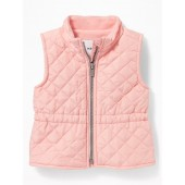 Diamond-Quilted Zip Vest for Baby