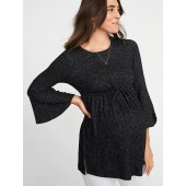 Maternity Plush-Knit Tie-Waist Tunic