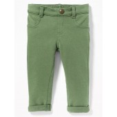 French-Terry Rolled-Cuff Jeggings for Baby