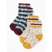 Marled Boot Socks 2-Pack for Baby