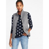 Textured Quilted Vest for Women