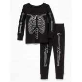 Glow-in-the-Dark Skeleton Sleep Set for Toddler & Baby