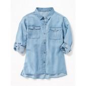 Tencel&#174 Utility Shirt for Girls