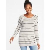Maternity Zippered Nursing Sweater Tunic