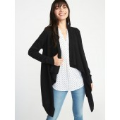 Maternity Cascading Open-Front Sweater