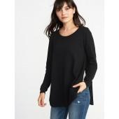 Maternity Side-Slit Nursing Sweater