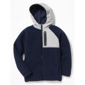 Go-Warm Hooded Sherpa Hybrid Jacket for Boys