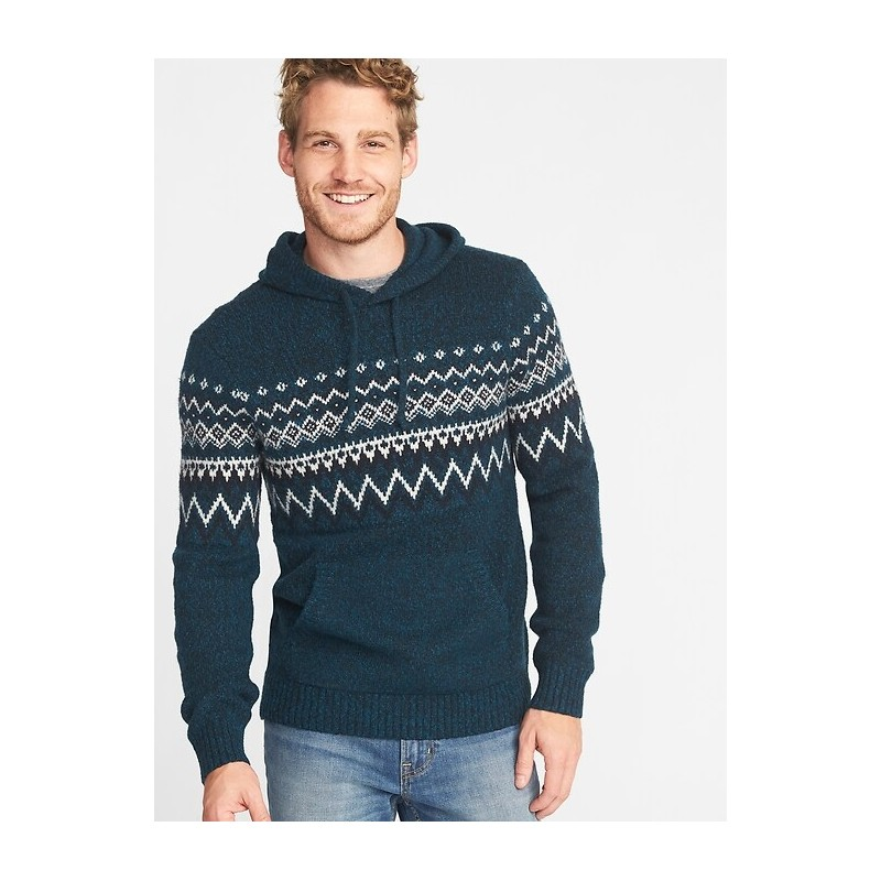Sweater-Knit Hoodie for Men