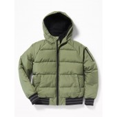 Frost-Free Hooded Bomber Jacket for Boys
