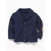 French-Rib Button-Front Cardigan for Baby