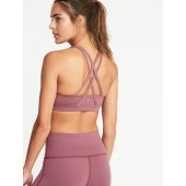 Medium Support Strappy Sports Bra for Women