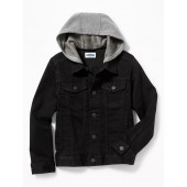 2-in-1 Hooded 24/7 Denim Jacket for Boys