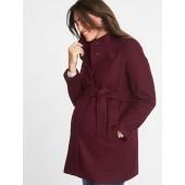Maternity Funnel-Neck Coat