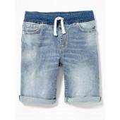 Karate Rib-Knit Waist Denim Shorts for Boys